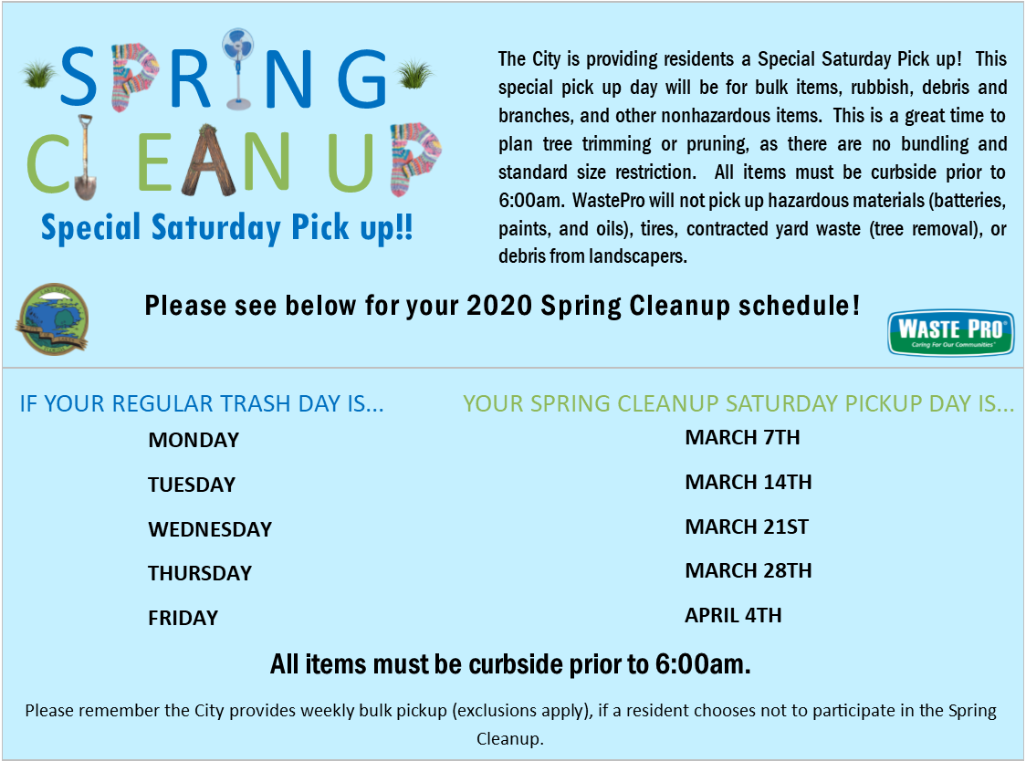 Image of flyer with details on Spring Cleanup